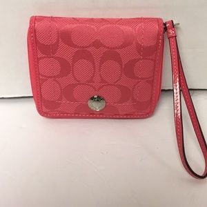 Coach hibiscus kyra medium zippered wallet